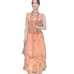 Sleeveless Ladies Georgette Party Wear Lehenga Choli, Size: S-XXL