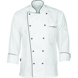 White Cotton Chef Uniform, Size: M And L