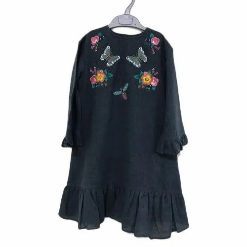 Casual Wear Embroidered Kids Fancy Top