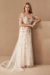 Bead Embroidered Wedding Dress