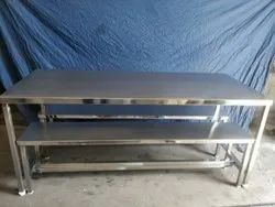 Stainless Steel Six Seater Dining Table With Bench1 Table