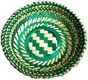 Hand Made Bamboo Gift Green Basket