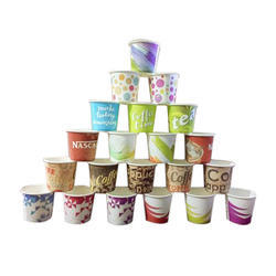 Multicolor Disposable Paper Cup, Capacity: 50 Ml, Packaging Type: Packet