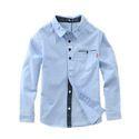 Kids Boys Plain Cotton Shirt