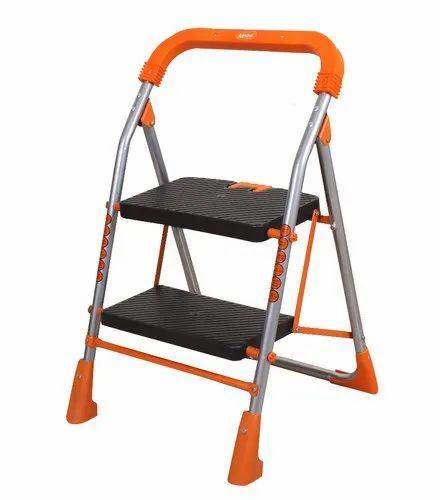 Miraculous Advance Safety Technology Orange Series Pollux Heavy Duty Metal 2 Step Folding Ladder Lamtechconsult Wood Chair Design Ideas Lamtechconsultcom