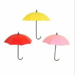 Umbrella Key Hat Wall Multipurpose Holder Hanger Hooks (Multicolour)-Umbrella Key Holder