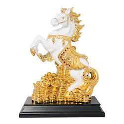 Gold Plated Horse Statue Corporate Gift Item