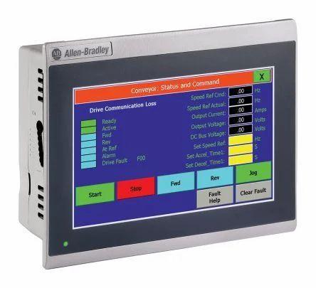 LCD 2711R-T7T Allen Bradley HMI, Screen Size: 7 Inches