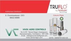 Truflo Pipe Distributor In Coimbatore Tamil Nadu India