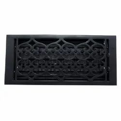 Flower Iron Wall Register with Louver - 6inch x 14inch (7-1/8inch x 15-3/4inch Overall)