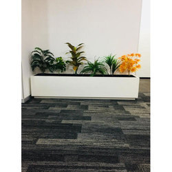 White Rectangular Frp Planter