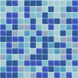 Blue Random Mix Tiles for Swimming Pool