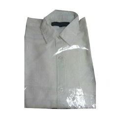 White Plain Mens Cotton Shirt
