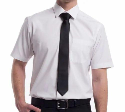 White Cotton Security Guard Shirt