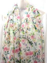 Polyester Floral Printed Scarves