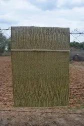 Handwoven Cotton Handloom Shuttle Accent Area Rug Carpet for Floor, Size: 4 x 6 feet