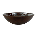 Wooden Bowl Set with Silver Foil, Enamel