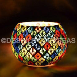 Decorated Mosaic Candle Holder