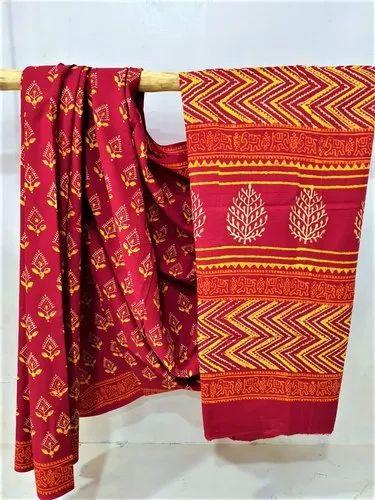 Printed Khadi Cotton Block Saree