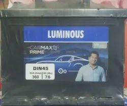Luminous Automotive Battery, Capacity: 65ah