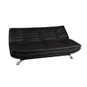 Stainless Steel And Foam Black Living Room Sofa Cum Bed