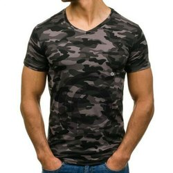 180 GSM poly Cotton Camouflage Round Neck T Shirt