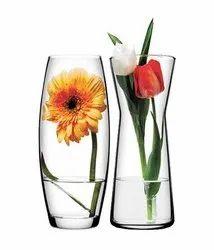 Transparent Glass Vase Plain