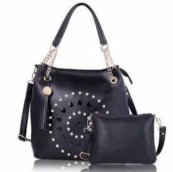 SaleBox Adjustable Black Leather Hand Bag, Gender: Women, 455g