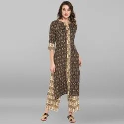 Multicolor Pure Cotton Kurta With Palazzo(SET190)