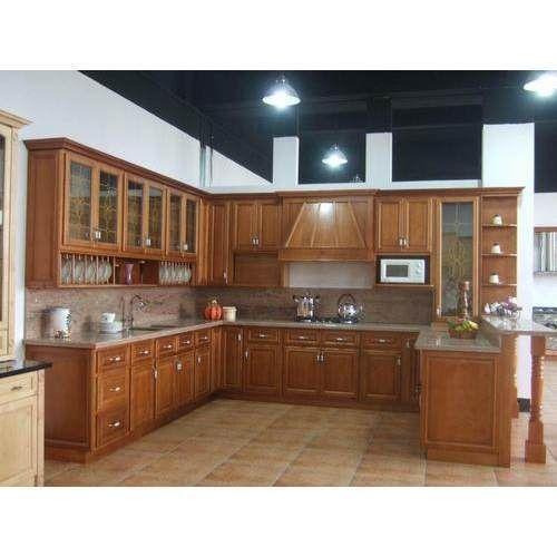 Brown Residential Wooden Modular Kitchen, Warranty: 5-10 Years, West Bengal