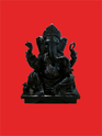 Ganesha In Black Marble Moorti