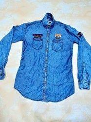 Plain Full Sleeves Denim Shirts