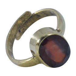 Natural Gomed Gemstone (Hessonite) Adjustable Ring