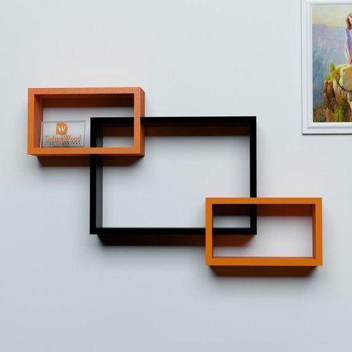 Black Orange Mdf Woodworld Home Decor