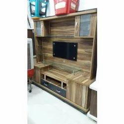 Brown Floor Mounted Wooden TV Cabinet