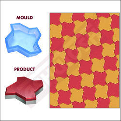 PVC Moulds for Paver Blocks Star - 60mm - Flower