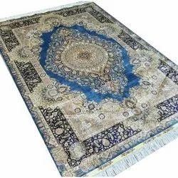 Rectangular Multicolor Decorative Silk Carpet, for Floor