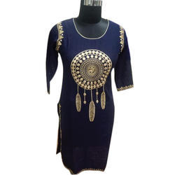 Ladies Party Wear Rayon Kurti