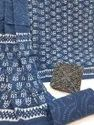 Latest Bagru Hand Block Printed Cotton Dress Material With Cotton Dupatta.