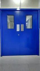 Blue Swing Stainless Steel Hospital Door
