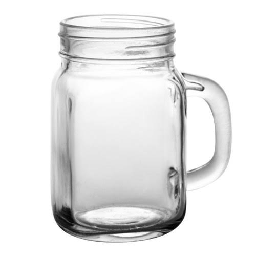 Glass Handle Jar