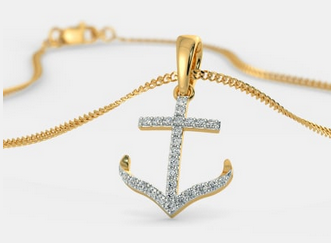 The Anchor Gold Pendant