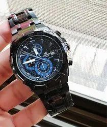 Black Blue Casio Edifice Watch