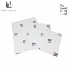 Hand stitch gift bags - white with light mauve owls print