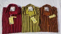 Satin Printed Shirt, Size: M L Xl