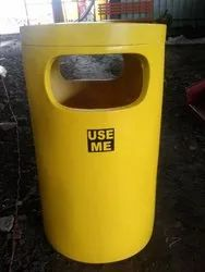 FRP Cylindrical Dustbin without Stand (Code D-12)