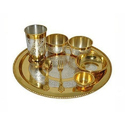 Silver Coated Thali Set