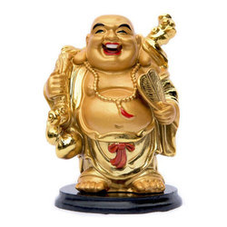 Carved Feng Shui Laughing Buddha Showpiece