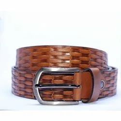 Latery Textured Leather Belt