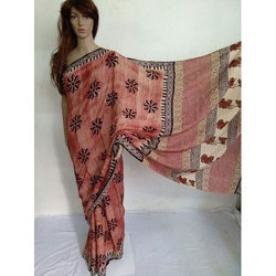 Hand Brush Printed Cotton Saree